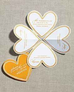 Adorable! folding heart save the date cards