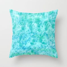 Sparkling Sea Throw Pillow by Rosie Brown - $20.00  #throwpillow #pillow #art #abstract #society6 #homedecor