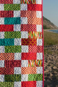 On the Road to Spring/Summer #quilt #quilting #longarm #machinequilting #tinlizzie18