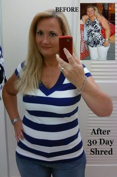 Jillian Michael's 30 Day Shred. Yes, it does work and I need to get back and serious about it!
