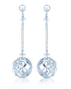 2011 Jewelers Choice Award     1st place Winner diamond, dangle earrings