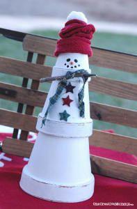 Quick n' Easy Clay Pot Snowman- so cute!!