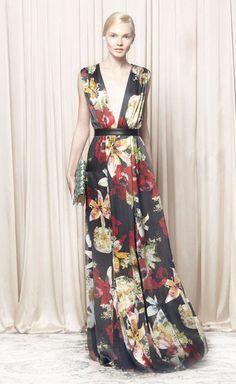 Alice + Olivia Triss Blossom Montage Maxi Dress Dress