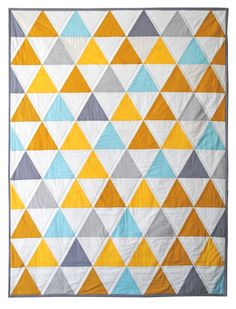 Triangles quilt - Etsy