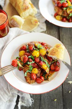 Chicken Breast with Warm Tomato Salad