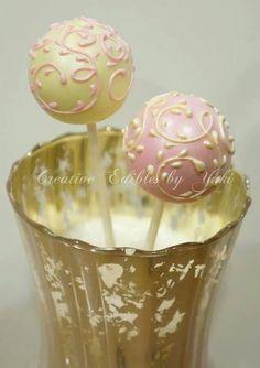 Pink & Yellow Swirl Cake Pops