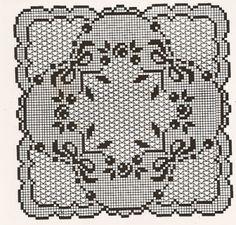 Schema centrino quadrato uncinetto