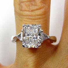 wedding anniversary, radiant cut diamond rings, anniversary rings, diamonds, radiant diamond, stone, white gold, jewelri, engagement rings