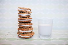 The Chocolate chip oatmeal cookies with bourbon cream filling