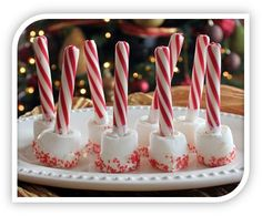 Christmas Recipes: Peppermint Marshmallow Hot Chocolate Stir Sticks