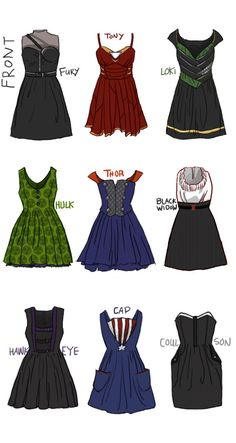 The complete thing of Avengers dresses. Need them now!