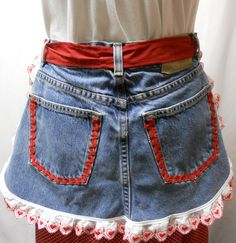 cute upcycled denim apron
