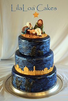 The Nativity Cake..Now this is one beautiful cake!