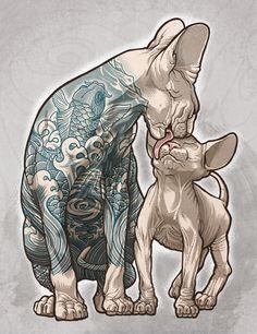 SPHYNX by Eilert Janßen Don't tattoo your cats kids.