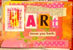 Art loves you back.