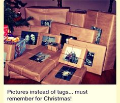 Picture Instead Of Tags On Presents