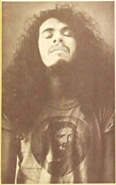 Carlos Santana on the cover of Rolling Stone, 1972.