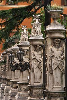 Rome, Via delle Quattro Fontane, Palazzo Barberini, Italy