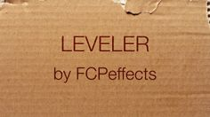 Leveler for Final Cut Pro X. Available at http://www.fcpeffects.com/leveler