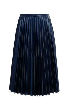 Pleated Faux Leather Skirt by J.w. Anderson Now Available on Moda Operandi