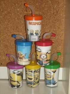 Despicable Me 2 Minion Party Favor Cups, Despicable Me 2 Party Cups Set of 6