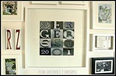 wall art, galleri, gallery walls, word art, typography art, art tutorials, artwork, name art, letter art