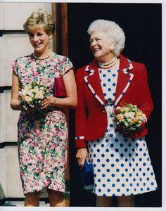 Princess Diana and Barbara Bush