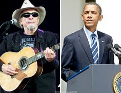 """Country music legend Merle Haggard stepped up to defend President Obama: """"It's really almost criminal what they (media) do with our President. There seems to be no shame or anything. They call him all kinds of names all day long, saying he's doing certain things that he's not. It's just a big old political game that I don't want to be part of. There are people spending their lives putting him down. He's not conceited. He's very humble about being the President of the United States."""" peopl spend, presid obama, polit game, merl haggard"""