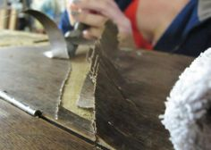 How to Strip Veneer - no fumes, no power tools,