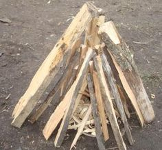 different ways (and why) to build a campfire