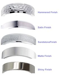 Men's wedding band finishes