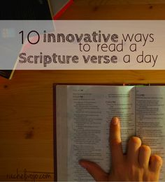 Sometimes the simple act of reading one Scripture verse at a given point can make all the difference in the world. Has that ever happened to you?