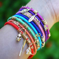 I am absolutely in love with these Colorful DIY Wrap Bracelets