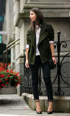 the perfect olive green jacket