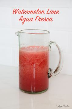 How to Make Homemade Watermelon Lime Agua Fresca