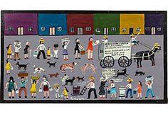 Roman Lopez Mexican Folk Art Painting