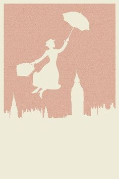 Mary Poppins Litograph! (The entire book, printed in small text to make this awesome poster.)