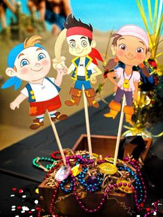 Jake and the Neverland Pirates Boy 2nd Birthday Party Planning Ideas Themed Birthday Parties, Jake, Neverland Pirat, Pirate Birthday, Pirate Cakes, 2Nd Birthday, Parti Idea, Pirat Parti, Boy Birthday Parties
