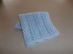 Blue Knit Doll Blanket