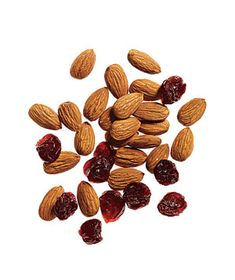 Snack idea: handful of almonds with dried cherries or blueberries, #snacks