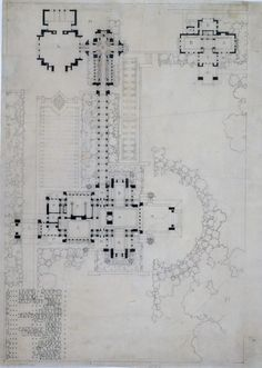 "Darwin D. Martin House, Buffalo, NY. 1902-04. ""The Frank Lloyd Wright Foundation Archives (The Museum of Modern Art | Avery Architectural & Fine Arts Library, Columbia University, New York)"""