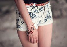 floral shorts. Sarah Kady. For sure.