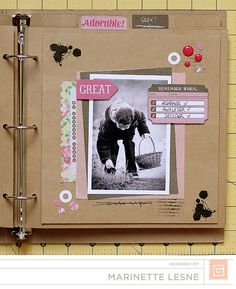 ★Scraptherapie★: {DT BasicGrey>>>La vie est belle (Capture Kraft Album+Mint Julep Collection}