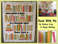 Read With Me Quilt Tutorial on the Moda Bake Shop. Adorable!
