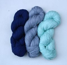 Navy, grey & light turquoise