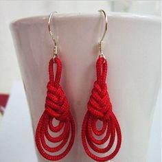 How to make handmade earrings-knot earrings