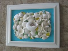 Original Framed Seashell Collage  Caribbean by seasideshells, $55.00