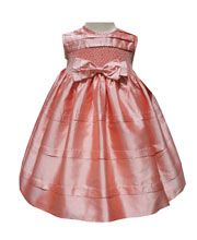 Silk Coral Dress  http://www.carouselwear.com/Silk-coral-baby-girl-dresses.html