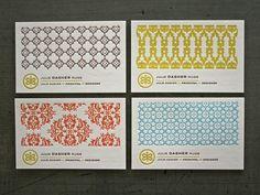 Letterpress, business cards