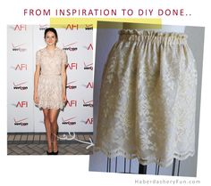 DIY Easy Pull On Skirt | Inspiration.. done. Now it's time to get working on the pattern.